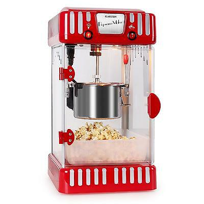 Red Popcorn Maker Machine 60 L/ H Stainless Steel Pop Up Retro Style Home Party