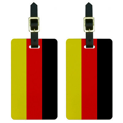 Germany Flag Luggage Suitcase Carry-On ID Tags Set of 2