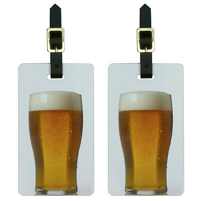 Glass of Beer Luggage Suitcase Carry-On ID Tags Set of 2