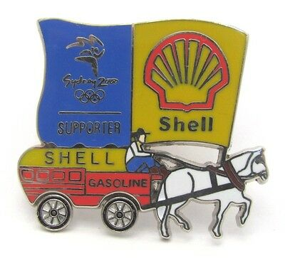 Shell Fuel Horse & Carriage Sydney Olympic Games 2000 Pin Badge Collect #211