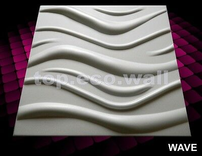 3D WALL CEILING PANELS POLYSTYRENE TILES (Pack of 40) 10 Sqm - WAVE 3D