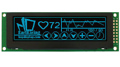 """Blue Serial SPI 3.2"""" inch OLED Module Display 256x64 w/Breakout Board for Arduin"""
