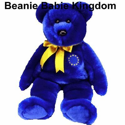"Ty Buddy * UNITY  * The Blue Teddy Bear Buddie Europe Exclusive 14"" Tall"