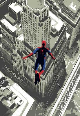 "AMAZING SPIDER-MAN 2 - 13""x19"" Original Promo Movie Poster 2014 MINT IMAX FanFix"