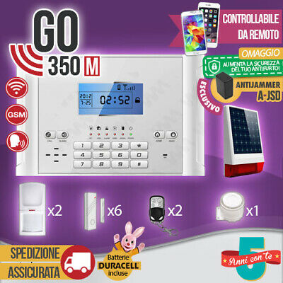 Kit Antifurto Casa Allarme Combinatore Gsm / App Wireless Go350M Anti Jammer