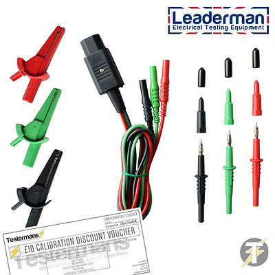 LDM-SFRB Test Lead Set for Single Function Loop & RCD Testers with IEC Connector