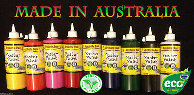 Kids Paint Set School Paints Poster Paint Children Paints  9x 250ml Artistic Den