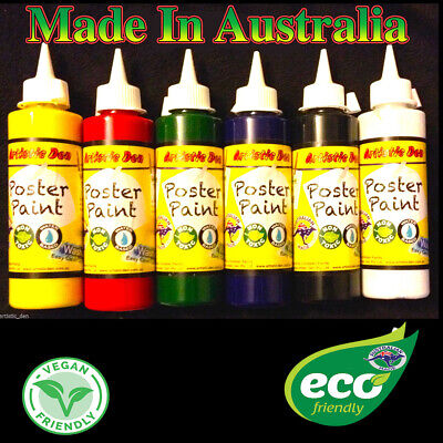 Kids Paint Set School Paints  Poster Paint Child Paint 6 x 250ml Artistic Den