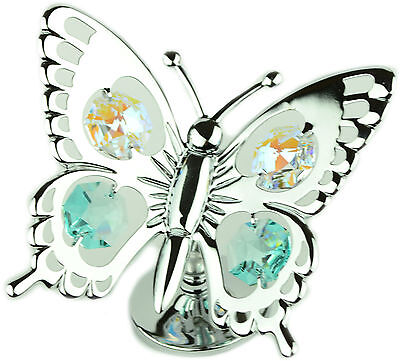 Crystal Ornaments Gift Set Swallowtail Butterfly Crystocraft Swarovski Elements
