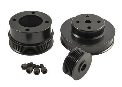 1986-1993 Mustang GT LX 5.0 302 BLACK Engine Billet Aluminum Underdrive Pulleys