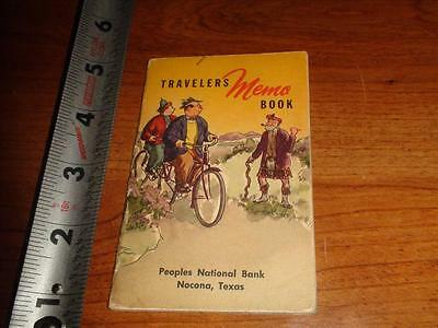 BT757 Vintage 1948-49 Calendar Memo Book Ad Peoples National Bank Nocona Texas