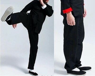 Bruce Lee Chinese Wing Chun Kung Fu trousers pants Costume