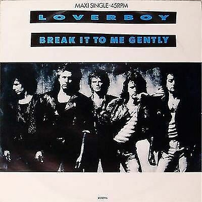 "Loverboy 'break It To Me Gently' Uk 3-Track 12"" Single"