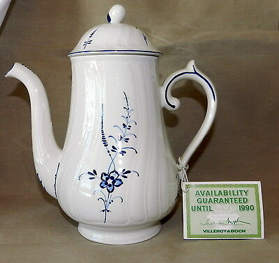 Beautiful New Vintage Villeroy & Boch Coffee Pot & Lid Vieux Luxembourg Vitro