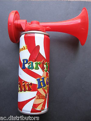 NEW Hand Held Air Horn Gr8 For Party Games Sports Events Festivals Loud Air Horn
