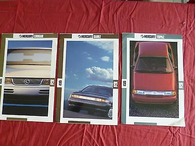 N° 2108 bis MERCURY sable / topaz / cougar ; catalogue gamme 1992   english text