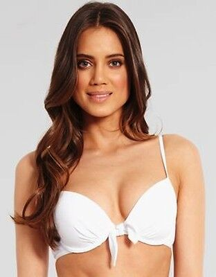 Lepel Swimwear Padded Push Up Bow Bikini Top 1356600 White BNWT Sizes 32A-38B