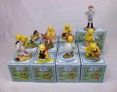 Royal Doulton Collection Of 12 Boxed Winnie The Pooh Figurines