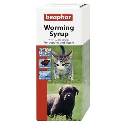Beaphar  Worming Syrup Puppies Puppy Kittens Kitten