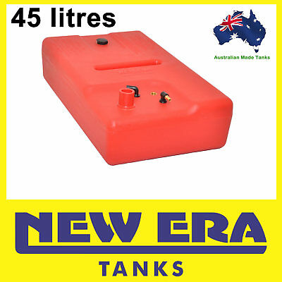 45 litre - Boat petrol fuel tank - 50mm straight inlet - Australian Made