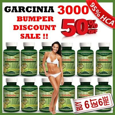 ◆◆ 3000mg Daily ◆◆ GARCINIA CAMBOGIA HCA 95% Capsules WHOLESALE Weight Loss Diet