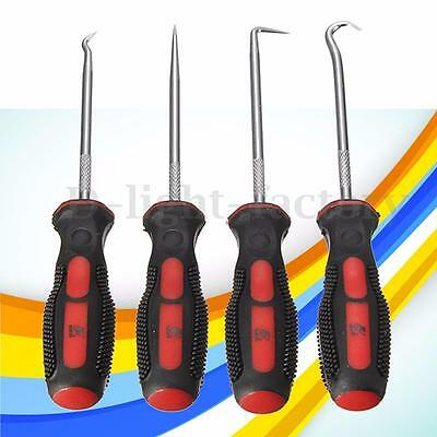 4pcs Car Extra Long Hook And Pick Set O-Ring & Puller Seal Remover Mechanic Tool