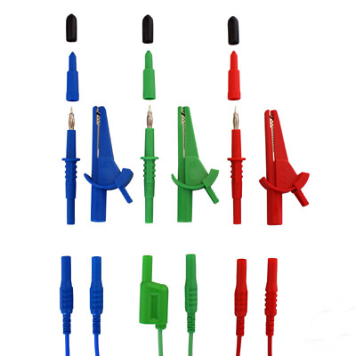 LDM165 Unfused Multifunction Test Leads Probes and Clips for Fluke and Megger