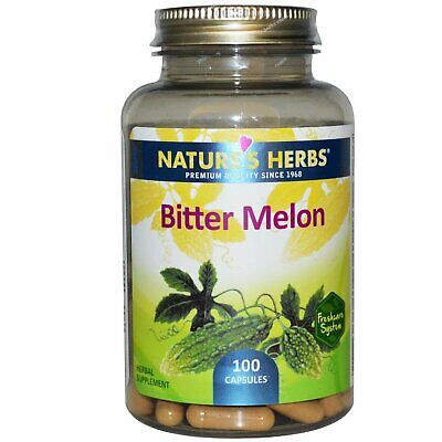 Natures Herbs, Bitter Melon - 450mg x100 Raw Pure Powder capsules
