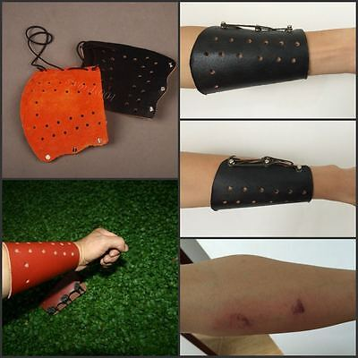 100% handmade arm protector guard archery protective cow leather useful