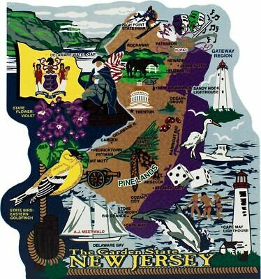 Cat's Meow Village US MAP New Jersey Garden State #RA677 NEW Ship Discounts
