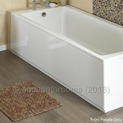 MDF High Gloss White Wooden Bath Adjustable Front Panel & Plinth Many Sizes