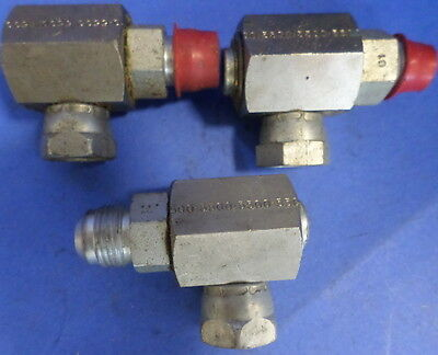 """AEROQUIP 5500 SERIES 90 JOINT ROTARY SWIVEL 3/4""""X3/4"""" , LOT OF 3"""