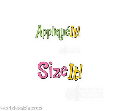 Amazing Designs APPLIQUE IT! & SIZE IT! Embroidery Machine Software Combo