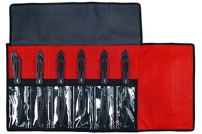 """12 Pcs 9"""" 440 Stainless Steel Throwers Throwing Knife Set With Case Brand New"""
