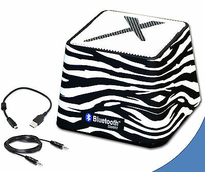 Xit Portable Mini Wireless Bluetooth Speaker in Stylish Zebra