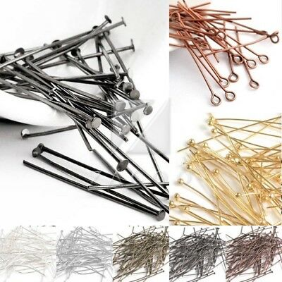 30g Silver Golden Head/Eye/Ball Pins Finding 21 Gauge 14-70mm Finding DIY Craft