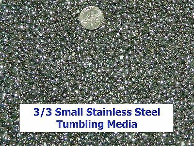 1 LB Stainless Steel Tumbling Media Shot Jewelers Mix 3 Shapes Tumbler ~NO PINS~