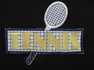 #3419 Tennis Net w//Rackets And Ball Embroidery Iron On Applique Patch