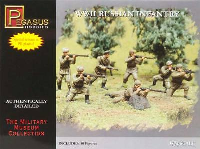 NEW Pegasus Hobbies 1/72 WWII Russian Infantry Combo 7498