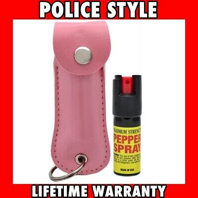 Police PEPPER SPRAY Maximum Strength + Holster Case Self Defense Security
