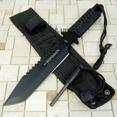 """11"""" Hunting Tactical Combat Camping Survival Knife w/ Firestarter Bowie 1740-"""