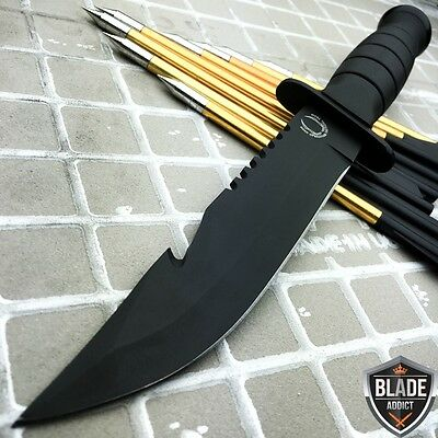 "10.5"" TACTICAL BOWIE SURVIVAL HUNTING KNIFE MILITARY Combat Fixed Blade + SHEATH"