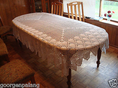 Hand Made Crocheted Table Cover - New, Never Used