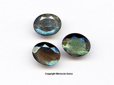 NATURAL FACETED 10x8 MM  OVAL CUT LABRADORITE HAND SELECT