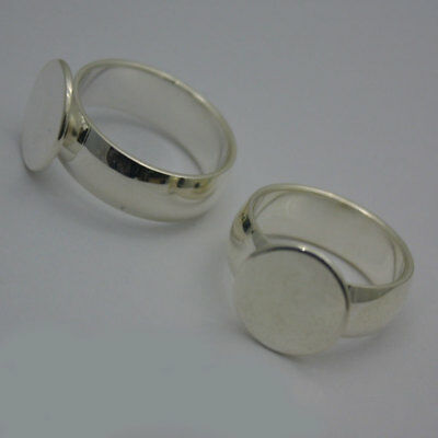 2pcs Silver Coloured Base Ring18mm top quality Blank Starter Ring Making Finding