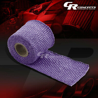 "5FT//60/""L 2/""W EXHAUST HEADER TURBO MANIFOLD PIPE WHITE HEAT SHIELD WRAP TAPE"