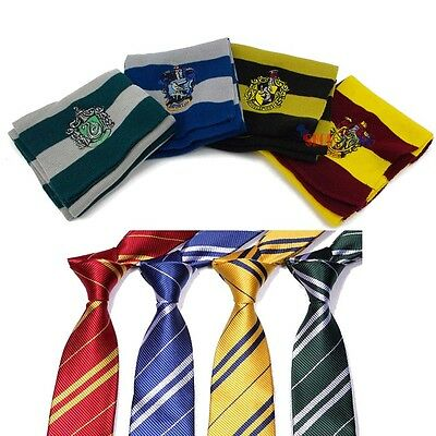 Harry Potter Gryffindor/Slytherin/Ravenclaw/Hufflepuff Scarf Tie Party Xmas Gift