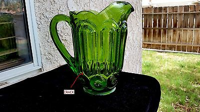 """Green Moon & Star Pitcher 8¼"""" Tall 38 oz. (AS - IS)"""