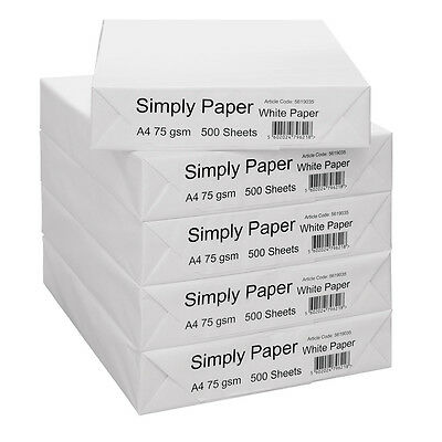 75 Gsm A4 Paper  / 2500 Sheets Per Box - New 1 2 3 Boxes Upwards - Ebay Cheapest