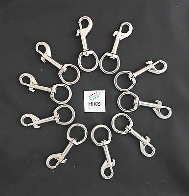 Trigger Clips Heavy Duty Pack of 10 Round Eye 19mm Swivel Snap Hook Clips